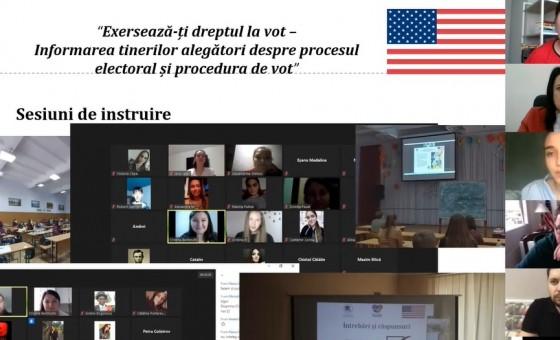 """Eveniment final de totalizare a rezultatelor în cadrul proiectului """"Exersează-ți dreptul la vot - Informarea tinerilor alegători despre procesul electoral și procedura de vot"""""""